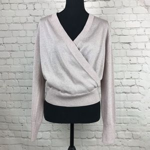 J. Crew Metallic Deep V Sweater Size Small.